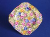 Early Royal Winton 'Sweet Pea' Chintz Tea for Two Plate c1936